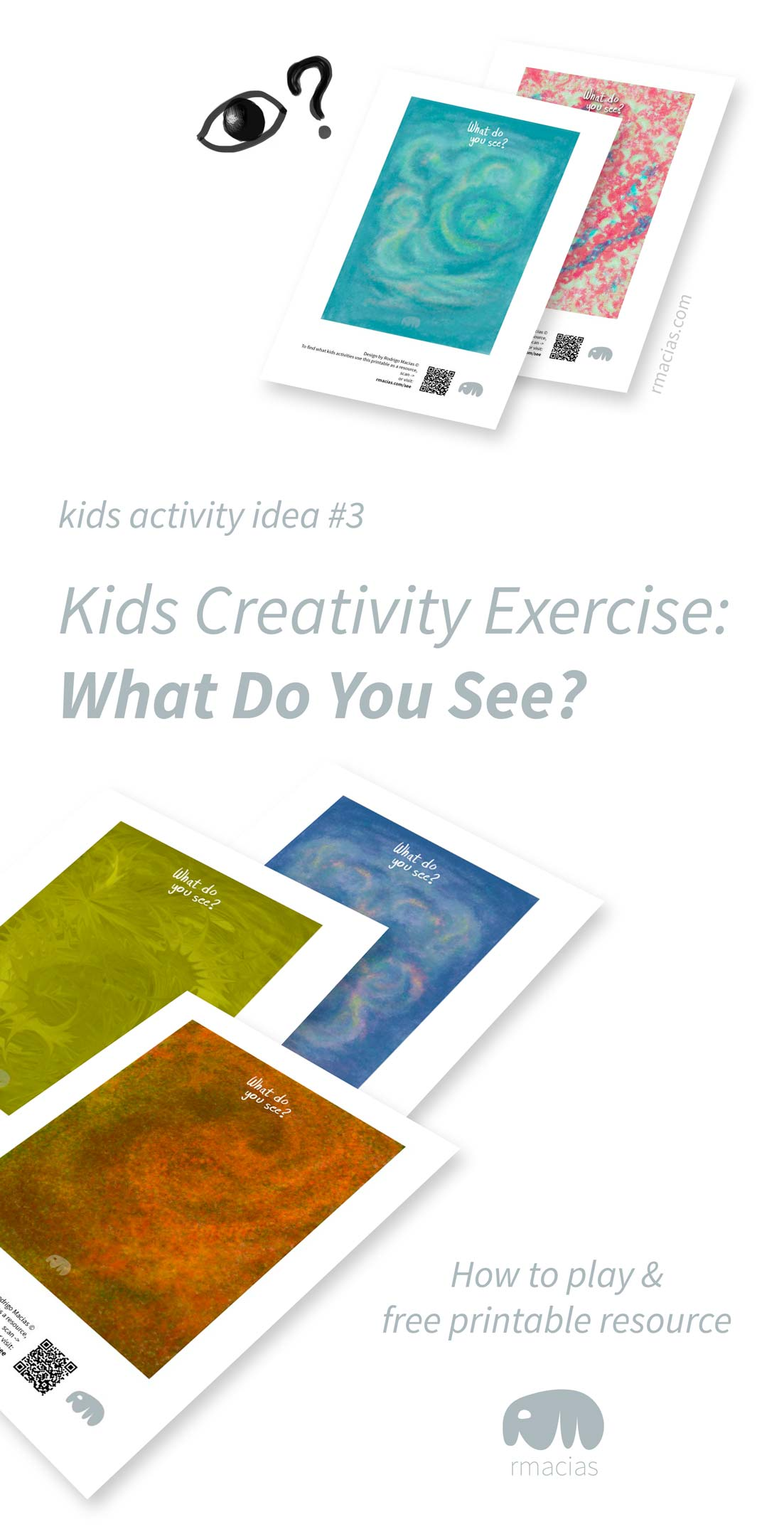 Easy DIY creativity game where kids find shapes in abstract images using their imagination. By Kids Activities Designer Rodrigo Macias.