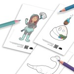 These are coloring pages of the characters I want to use one day in my children stories - by Kids Activities Designer Rodrigo Macias
