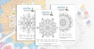 Free coloring activity: Animal Mandalas (EN/ES/FR vocabulary of animal names)