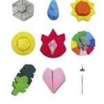 Pokémon Gym Badges - Handmade with Dough - Free Printable by Kids Activities Designer Rodrigo Macias