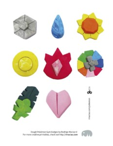 Pokémon Gym Badges – Handmade with Dough (Free Printable)