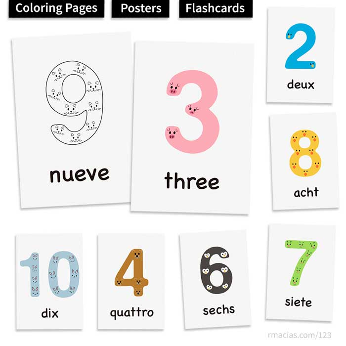 It is a photo of Free Printable Numbers 1 10 with regard to house