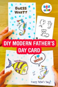 Modern DIY Father's Day Card Idea that Suits All Kinds of Dads (even single moms)