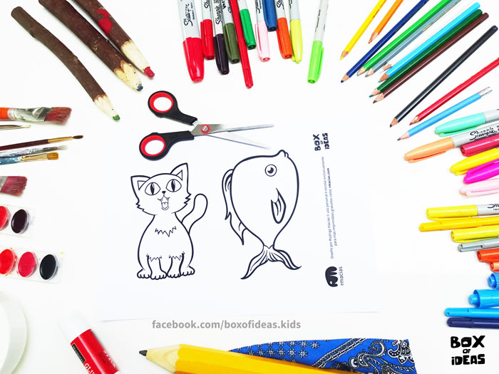 printable-preview-Cat-and-Fish-Animal-adults-and-Kids-Drawings-for-Inclusive-DIY-Modern-Fathers-Day-Card-by-box-of-ideas-01