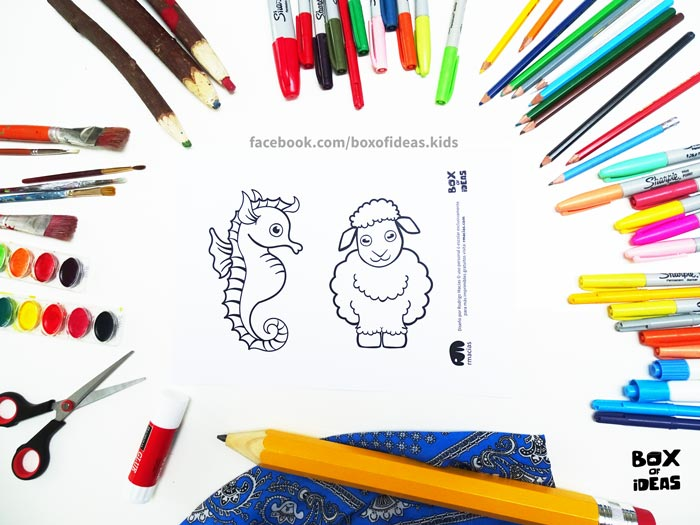 printable-preview-Seahorse-and-Sheep-Animal-adults-and-Kids-Drawings-for-Inclusive-DIY-Modern-Fathers-Day-Card-by-box-of-ideas-02