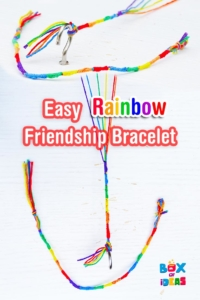 Easy Rainbow Friendship Bracelet Tutorial