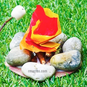 Easy Miniature Campfire Craft for Kids Using Rocks and Sticks