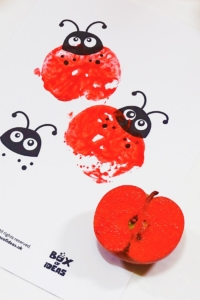 Bugs and Nature Simple Stamping Art Activity with Apples (printable included)