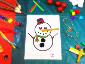 Complete the Xmas Characters: Santa, Reindeer and Snowman (Christmas Craft Activity for Kids)