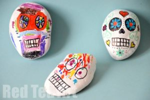 Day of the Dead: Stone Skulls by Red Ted Art