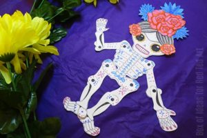 Day of the Dead Paper Puppet Template by Red Ted Art
