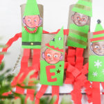#DIY Christmas #Elf on the Shelf toilet tube craft for teachers of preschool #kids
