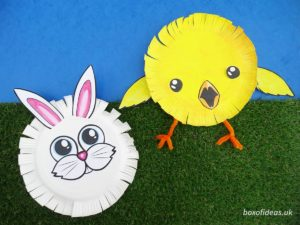 Easy Bunny Craft for Preschool and Baby Chick Craft for Kids