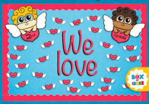 Cute Valentine's Day Bulletin Board Idea For Preschool Kindergarten and Elementary