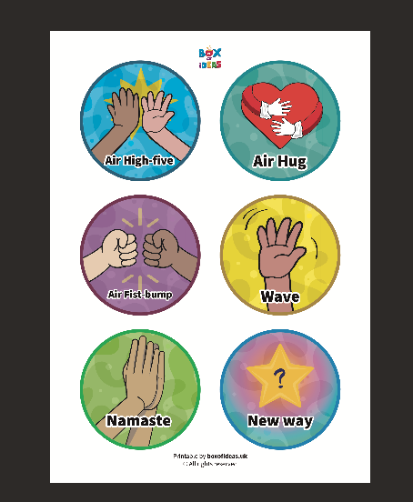Social Distancing Greetings Poster for Kids