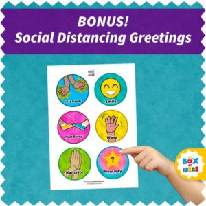 Six Non-contact Greetings choices for Social Distancing: Jazz Hands, Foot bump, namaste, smile, wave and new way