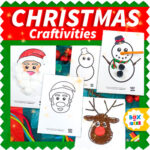 Christmas Craft Activities for Preschool: Santa, Snowman and reindeer crafts