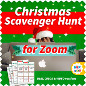 Christmas Zoom Scavenger Hunt Ideas for Kids