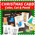 Cut and paste Christmas Card project for kids